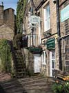 Photograph   Holmfirth - Last of Summer Wine Country  - Nora Batty home now the Wrinkled Stockings Tearoms